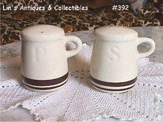 McCOY POTTERY VINTAGE PASTA LINE OR STONECRAFT SALT AND PEPPER SHAKERS