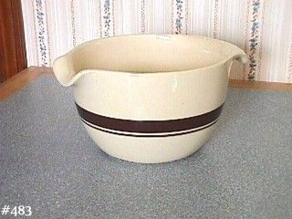 McCOY POTTERY BROWN STRIPE BANDS STONECRAFT VINTAGE BATTER BOWL