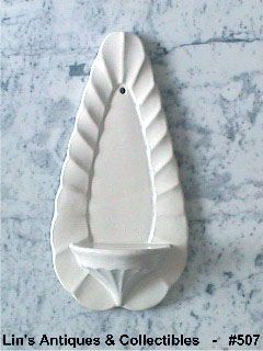 McCOY POTTERY WHITE WALL SHELF WALL SCONCE