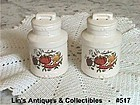 McCOY POTTERY -- VINTAGE SPICE DELIGHT SALT AND PEPPER SET