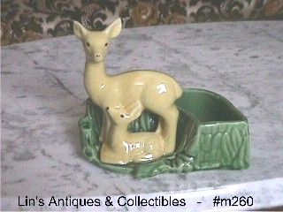 SHAWNEE POTTERY VINTAGE MAMA DEER WITH FAWN PLANTER IN MINT CONDITION