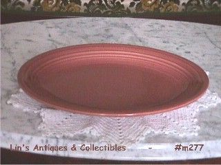VINTAGE FIESTA SERVING PLATTER ROSE COLOR MINT CONDITION