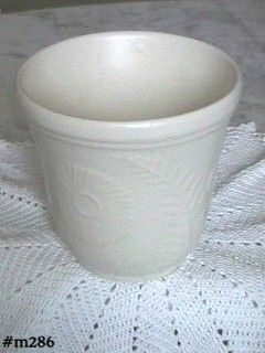 SHAWNEE POTTERY MATTE WHITE FLOWER AND FERN JARDINIERE