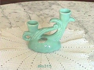 CAMARK POTTERY VINTAGE CANDLE HOLDER WITH ORIGINAL FOIL LABEL