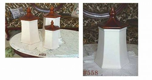 McCOY POTTERY VINTAGE PAGODA CANISTERS SET OF 4 CANISTERS