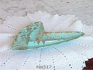 SHAWNEE POTTERY FLIGHT ASHTRAY TURQUOISE COLOR 22K GOLD DECORATION