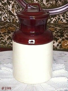McCOY POTTERY LARGE MILK CAN COOKIE JAR 12 1/4 INCHES TALL MINT
