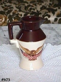 McCOY POTTERY SPIRIT OF '76 PITCHER IN MINT CONDITION