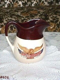 McCOY POTTERY SPIRIT OF '76 PITCHER 6 INCH TALL IN MINT CONDITION