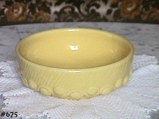 McCOY POTTERY  VINTAGE 8 INCH DIAMETER YELLOW BULB BOWL MADE IN 1946