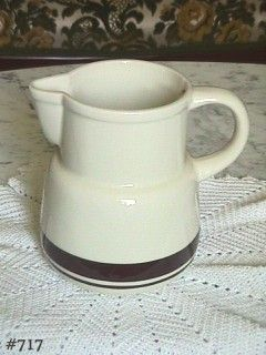 McCOY POTTERY STONECRAFT BROWN STRIPE BROWN BANDS PITCHER
