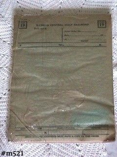 VINTAGE TRAIN MEMORABILIA ICG RAILROAD FORM 19