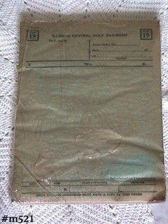 Vintage Train Memorabilia ICG Railroad Form 19