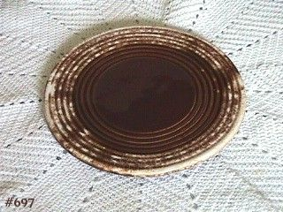 McCOY POTTERY VINTAGE BROWN DRIP TRIVET IN EXCELLENT CONDITION