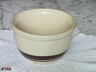 McCOY POTTERY STONECRAFT BROWN STRIPES MIXING BOWL 1 QUART SIZE