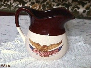 McCOY POTTERY SPIRIT OF '76 MILK PITCHER