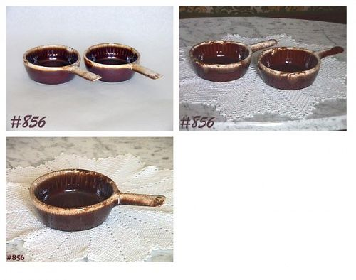 McCOY POTTERY -- 4 VINTAGE BROWN DRIP CASSEROLES + EXTRA ONE FREE!!