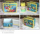 VINTAGE ALADDIN PAC MAN LUNCH BOX WITH THERMOS