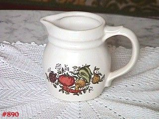 McCOY POTTERY SPICE DELIGHT SMALL 4 INCH TALL PITCHER OR CREAMER