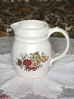 "McCOY POTTERY -- SPICE DELIGHT 6"" TALL MILK PITCHER"