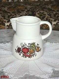 McCOY POTTERY SPICE DELIGHT 6 INCH TALL PITCHER IN MINT CONDITION
