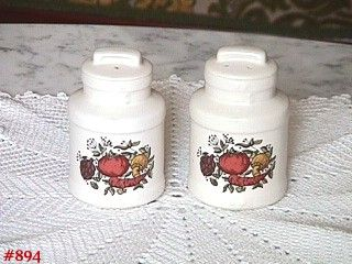 McCOY POTTERY SPICE DELIGHT SALT AND PEPPER SHAKER SET MINT CONDITION