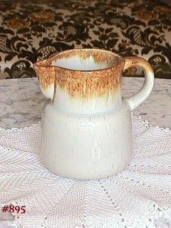 "McCOY POTTERY -- GRAYSTONE 5 3/4"" TALL PITCHER"