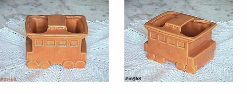 SHAWNEE POTTERY VINTAGE CABOOSE PLANTER PUMPKIN COLOR
