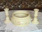 "McCOY POTTERY -- ""ROMANCE"" LINE CENTERPIECE AND 2 CANDLE HOLDERS"
