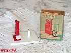 WITCH BRAND NEEDLE THREADER MADE IN WEST GERMANY MINT IN ORIGINAL BOX