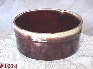 McCOY POTTERY BROWN DRIP LARGE SOUFFLE DISH BOWL