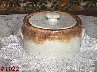 McCOY POTTERY -- GRAYSTONE CASSEROLE WITH LID