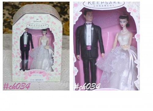 HALLMARK -- BARBIE AND KEN WEDDING DAY ORNAMENT (DATED)