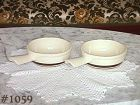 McCOY POTTERY -- SET OF TWO STONECRAFT BROWN STRIPE CASSEROLES