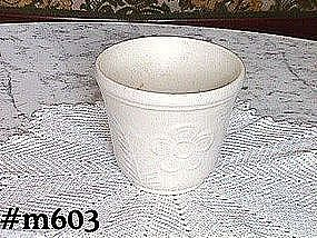 SHAWNEE POTTERY -- FLOWER AND FERN JARDINIERE (WHITE)