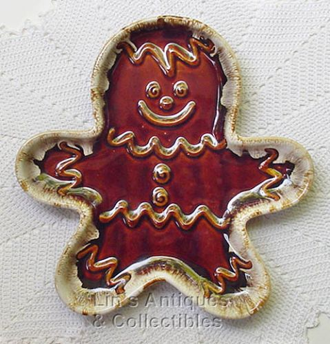 HULL POTTERY VINTAGE GINGERBREAD MAN PLATE IN EXCELLENT CONDITION