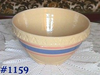 MCCOY POTTERY -- VINTAGE STONEWARE MIXING BOWL WITH SQUARE BOTTOM
