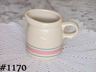 McCOY POTTERY STONECRAFT PINK AND BLUE CREAMER