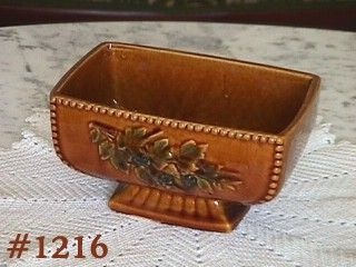 McCOY POTTERY VINTAGE ANTIQUE CURIO GLOSS BROWN PLANTER