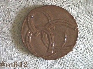 FRANKOMA POTTERY VINTAGE GOOD LUCK TRIVET