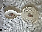McCOY POTTERY -- VINTAGE SPICE DELIGHT TRIVET AND SPOON REST