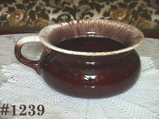 McCOY POTTERY -- LARGE SPITTOON (BROWN DRIP)