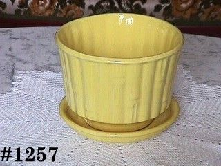 McCOY POTTERY BRIGHT YELLOW HORTICULTURE 5 3/8 INCHES TALL FLOWERPOT