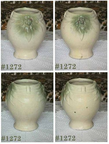 McCOY POTTERY -- STONEWARE URN VASE (PALE YELLOW)