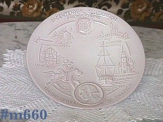 FRANKOMA POTTERY VINTAGE AMERICAN BICENTENNIAL PLATE FIRST IN SERIES