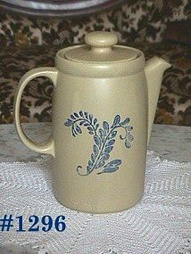 McCOY POTTERY -- BLUE FIELD COFFEE SERVER