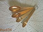 VINTAGE ALUMINUM MEASURING SPOONS WITH METRIC EQUIVALENTS