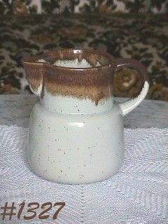 "McCOY POTTERY -- GRAYSTONE 6"" TALL PITCHER"