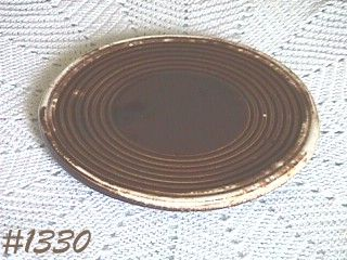 McCOY POTTERY BROWN DRIP TRIVET