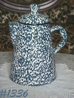 "McCOY POTTERY -- BLUE COUNTRY ""CHUCK WAGON"" COOKIE JAR"